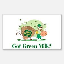 Lucky Irish Got Green Milk Sticker (Rectangle)
