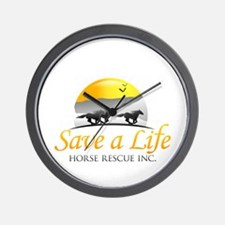 Save A Life Horse Rescue Wall Clock