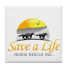 Save A Life Horse Rescue Tile Coaster