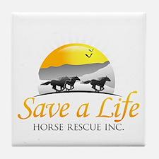 Save A Life Horse Rescue Tile Coaster