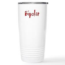 Red Bipolar Ceramic Travel Mug