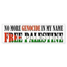 No More Genocide Bumper Sticker