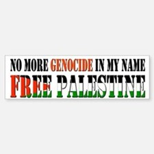 No More Genocide Sticker (Bumper)