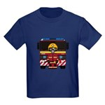 Firefighter and Fire Engine Kids Dark T-Shirt