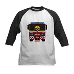 Firefighter and Fire Engine Kids Baseball Jersey