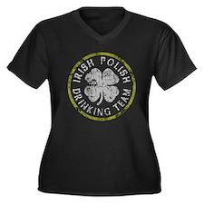 Irish Polish Drinking Team Women's Plus Size V-Nec
