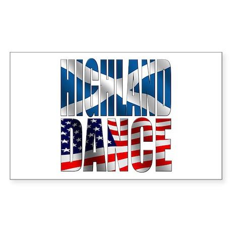 Highland Dance Sticker (Rectangle)