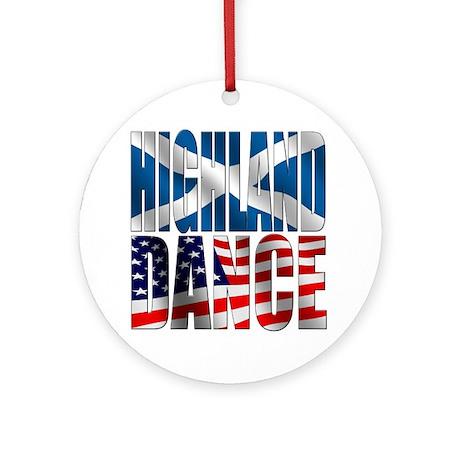 Highland Dance Ornament (Round)