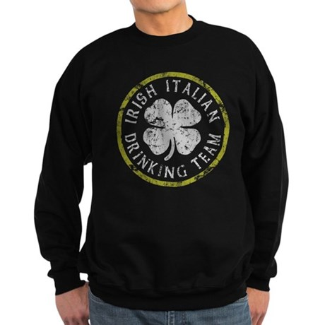 Irish Italian Drinking Team Sweatshirt (dark)