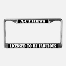 Actress License Plate Frame