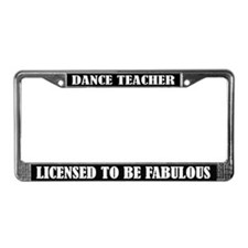 Dance Teacher License Frame