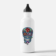 Skull & Rose Water Bottle