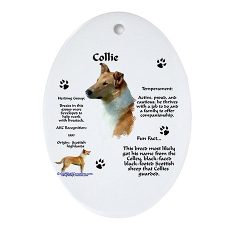 Collie 2 Oval Ornament