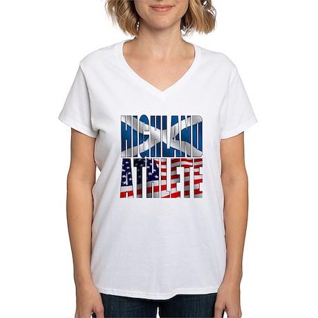 Highland Athlete Women's V-Neck T-Shirt
