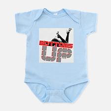 Bottoms UP (red) Infant Bodysuit