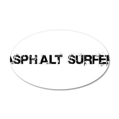 Asphalt Surfer 20x12 Oval Wall Decal