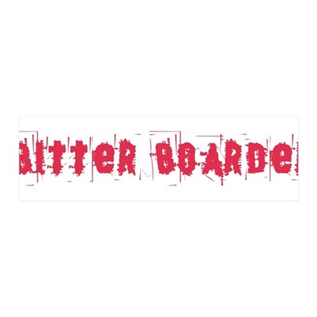 Bitter Boarder 36x11 Wall Decal