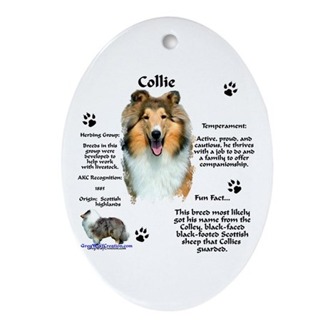 Collie 1 Oval Ornament