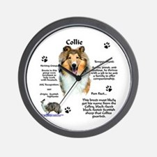 Collie 1 Wall Clock