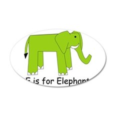 E is for Elephant 22x14 Oval Wall Peel