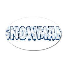 Snowman Wall Decal