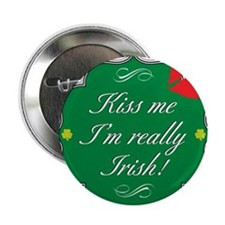 "Cute 100 percent irish 2.25"" Button"