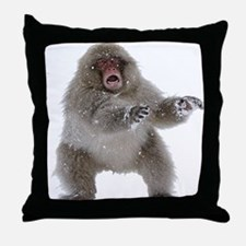 frozen zombiemonkey Throw Pillow