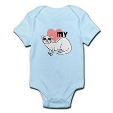 Love My Ferret - White Infant Bodysuit