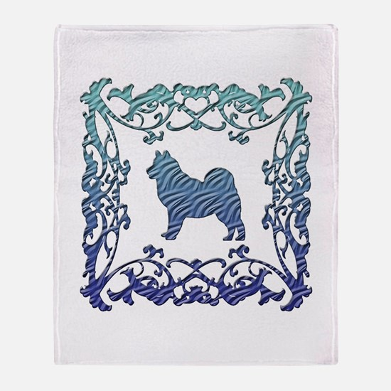 Alaskan Malamute Lattice Throw Blanket