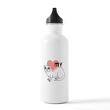 Love My Ferret - White Water Bottle