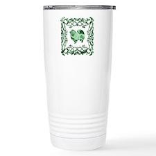 American Eskimo Dog Lattice Travel Mug