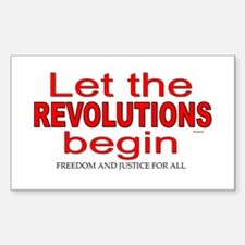 Let the Revolutions Begin Decal
