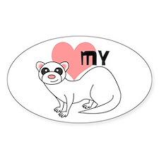 Love My Ferret - White Decal