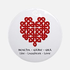 Celtic Heart (Red) Ornament (Round)
