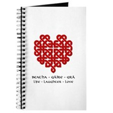 Celtic Heart (Red) Journal