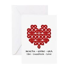 Celtic Heart (Red) Greeting Card