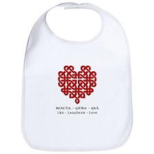 Celtic Heart (Red) Bib
