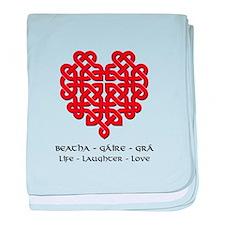 Celtic Heart (Red) baby blanket