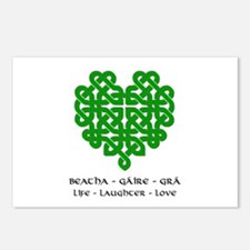 Celtic Heart (Green) Postcards (Package of 8)
