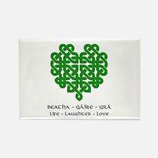 Celtic Heart (Green) Rectangle Magnet