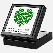 Celtic Heart (Green) Keepsake Box