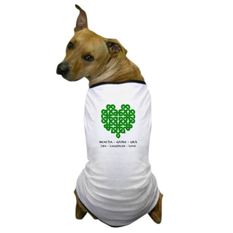 Celtic Heart (Green) Dog T-Shirt
