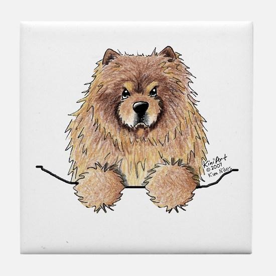 Cinnamon Pocket Chow Tile Coaster