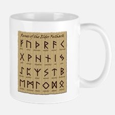 Parchment Runes Small Mugs