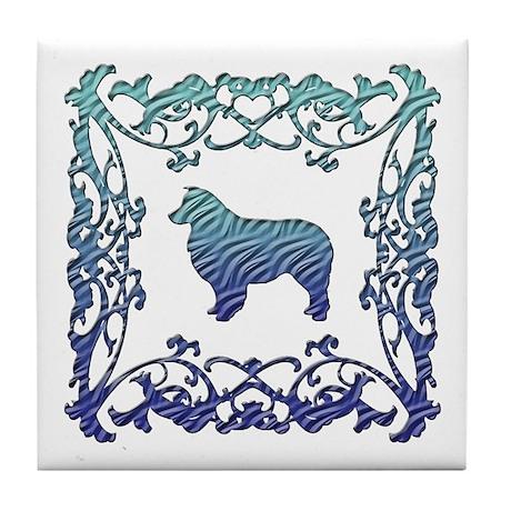 Australian Shepherd Dog Lattice Tile Coaster