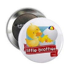 """Little Brother Duckling 2.25"""" Button"""