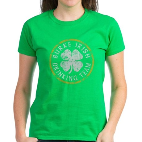 Burke Irish Drinking Team Women's Dark T-Shirt