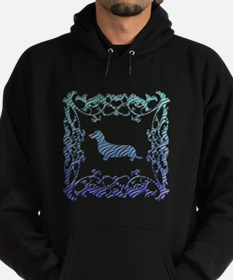 Dachshund Lattice Hoodie (dark)