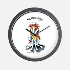 Greyhound Funny Wall Clock