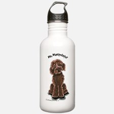 Chocolate Labradoodle Manipulate Water Bottle